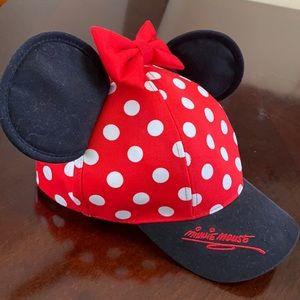 Minnie Mouse Disney Park baseball style hat